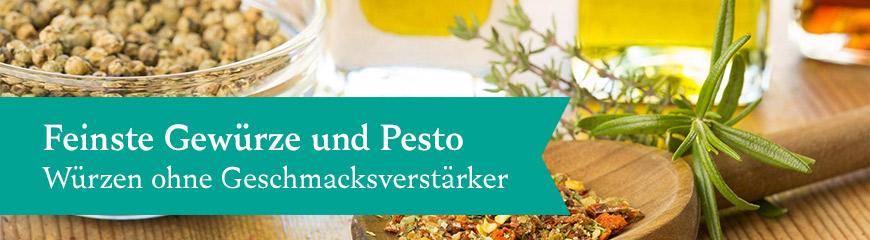 Gewürze und Pesto