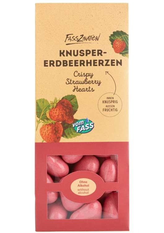 Knusper-Erdbeerherzen