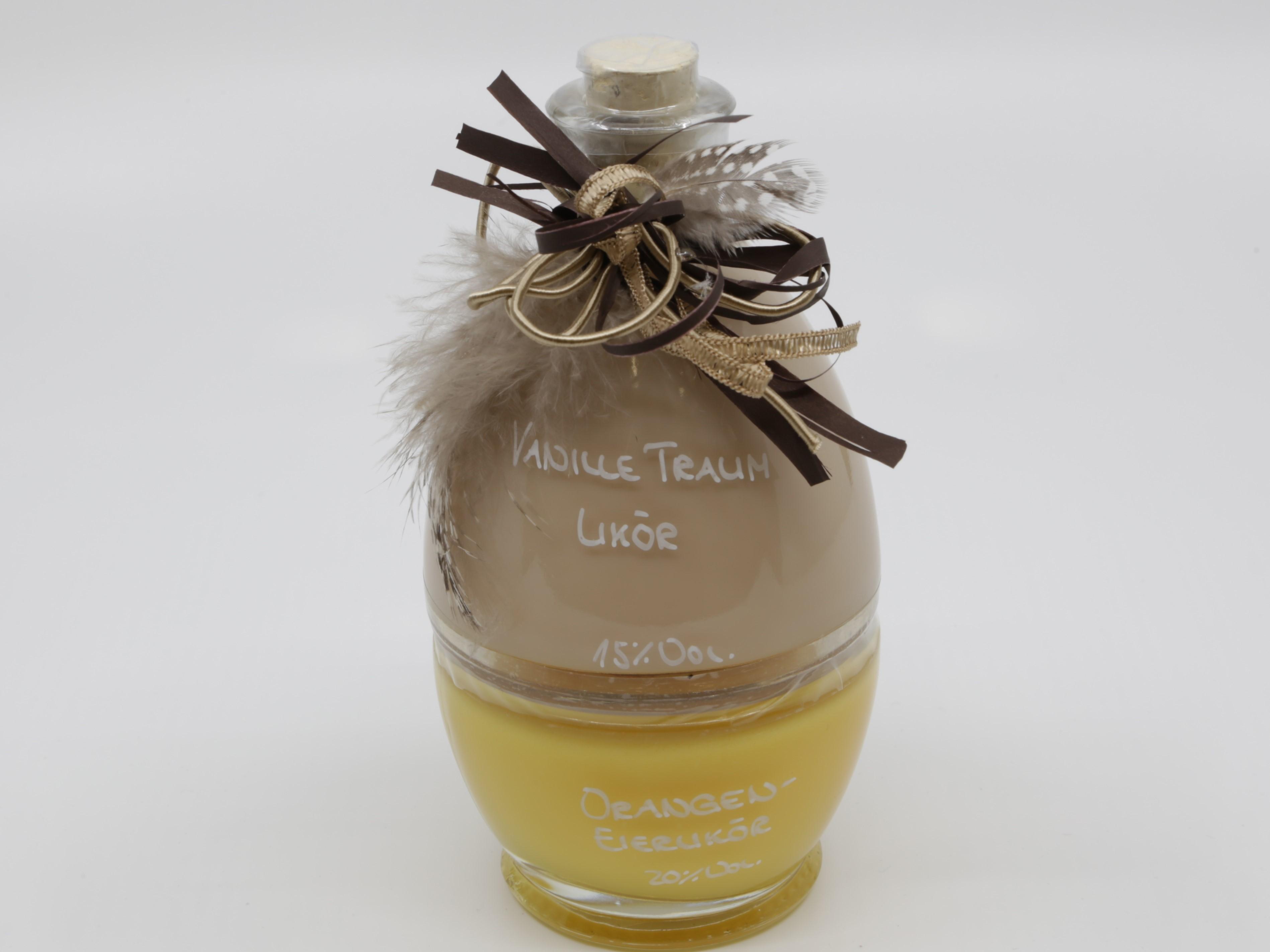 Orangen-Eierlikör und Vanille Traum in Osterei-Flasche