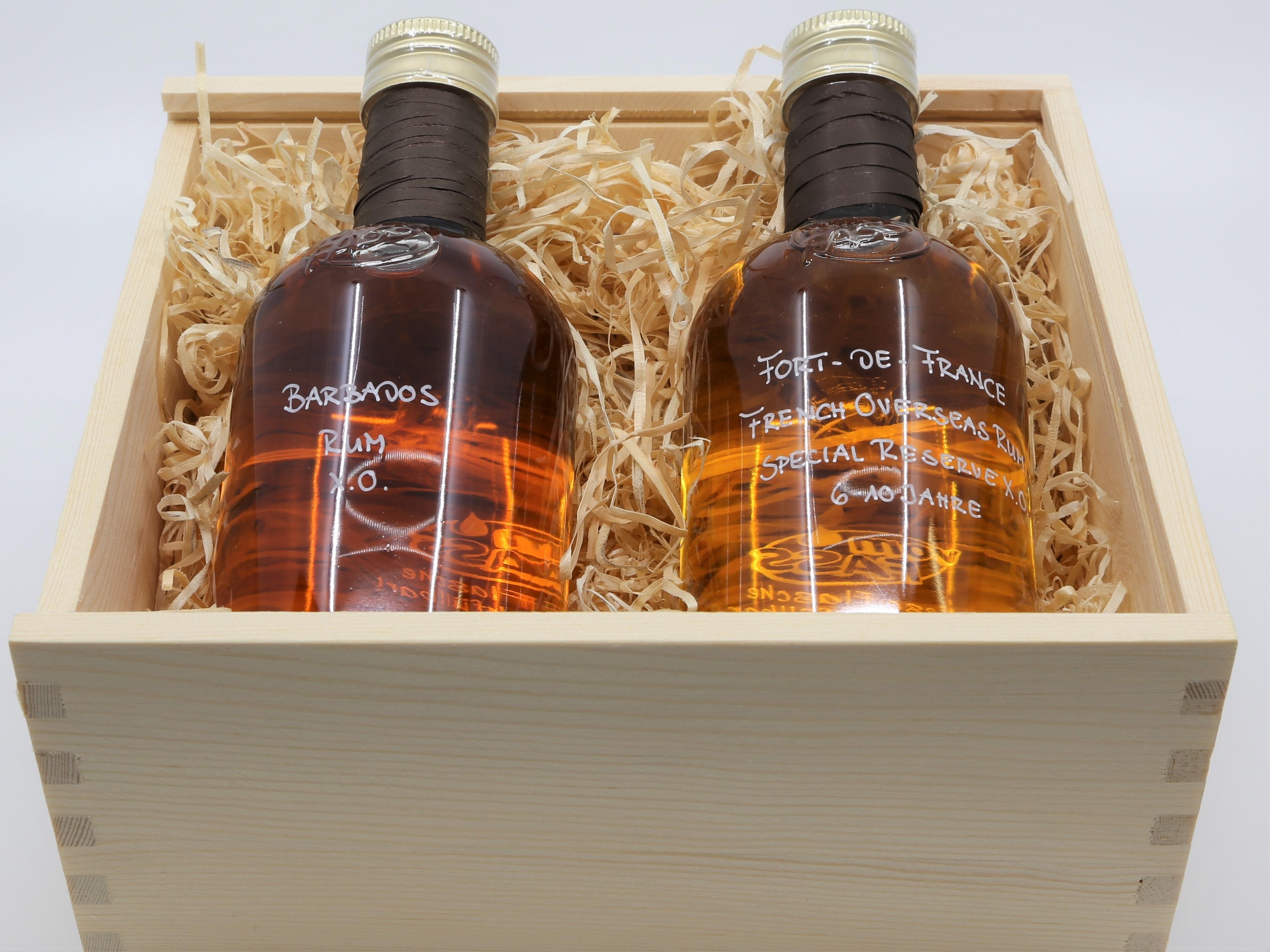 Geschenkset Rum in Holzkiste