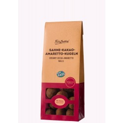 Sahne-Kakao-Amaretto-Kugeln