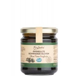 Gegrillte, schwarze Oliven