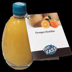 Orangen-Eierlikör in Ei-Flasche für Ostern