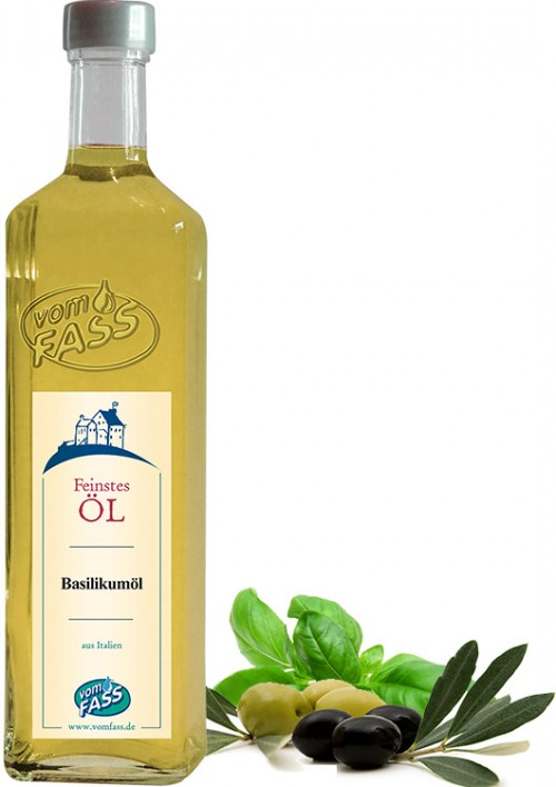Natives Olivenöl extra mit  Basilikumextrakt