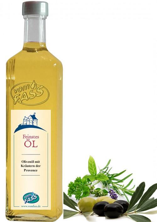 Natives Olivenöl extra mit  Extrakt aus Kräutern der Provence