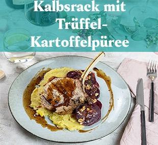 https://www.vomfass.ch/Rezept Kalbsrack mit Trüffel Kartoffelpüree