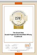 Gold beim Internationalen Spirituosen Wettbewerb